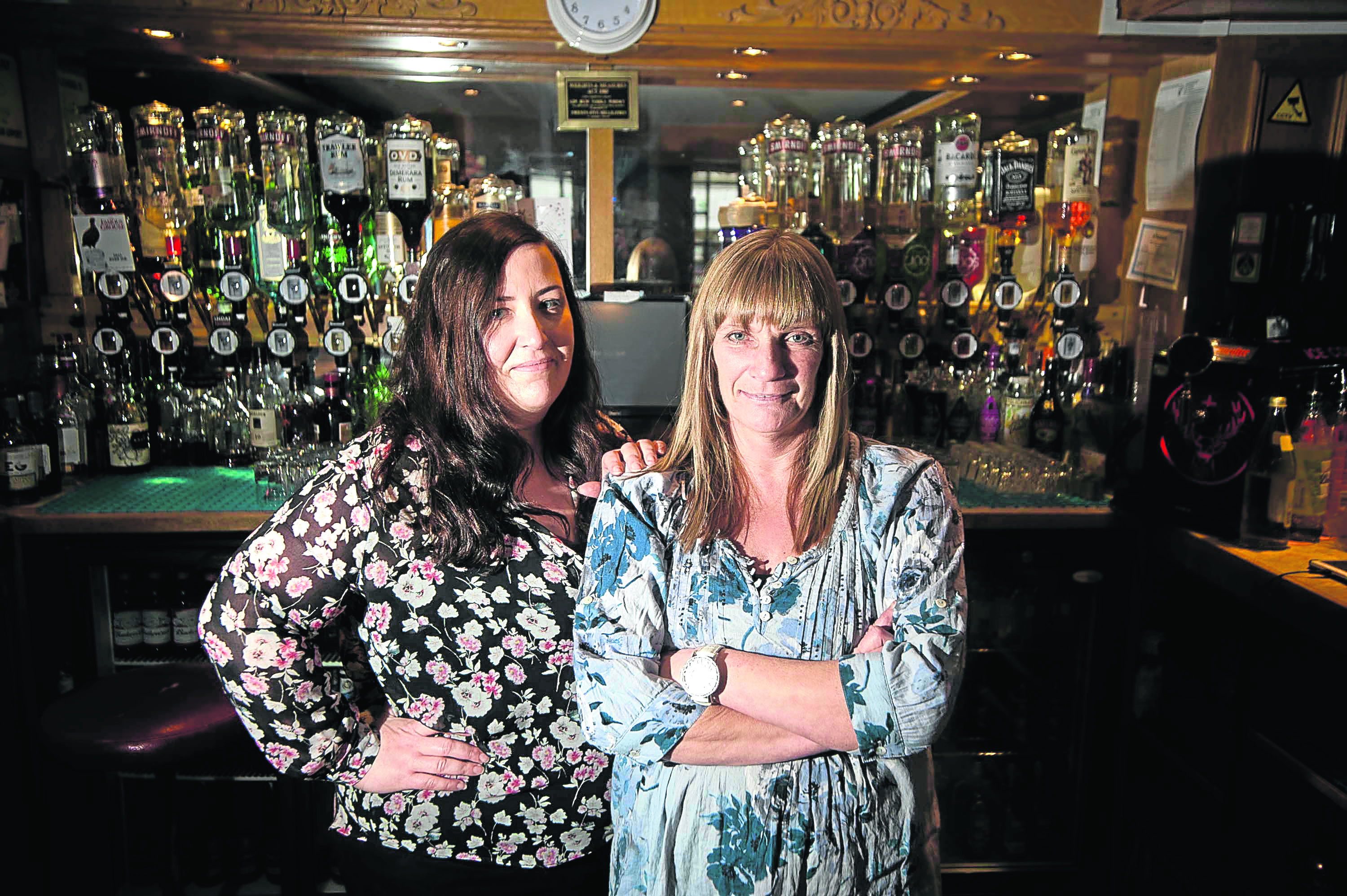 Assistant manager Lynda Murray and bar manager Emma McLean.
