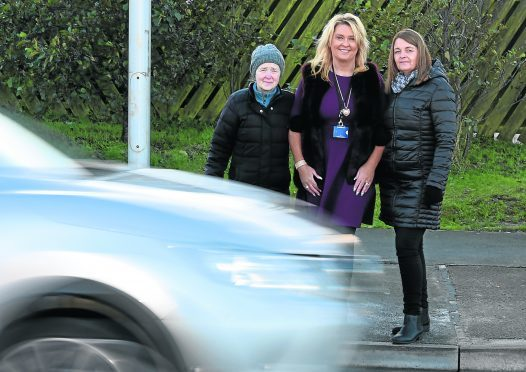 From left: Linda Buchan, councillor, Dianne Beagrie and Michelle Geddes.  Picture by Jim Irvine