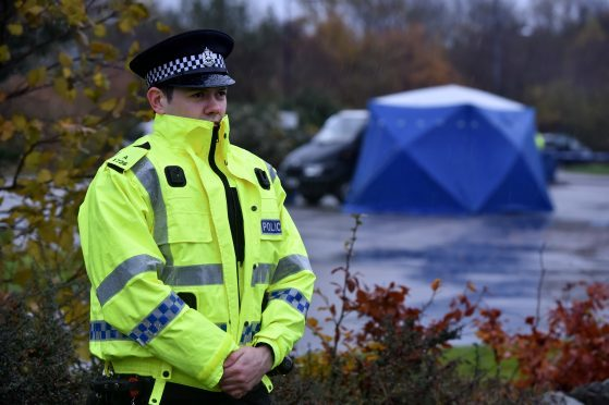 The man's body was found in the car park at  Bucksburn Travelodge,