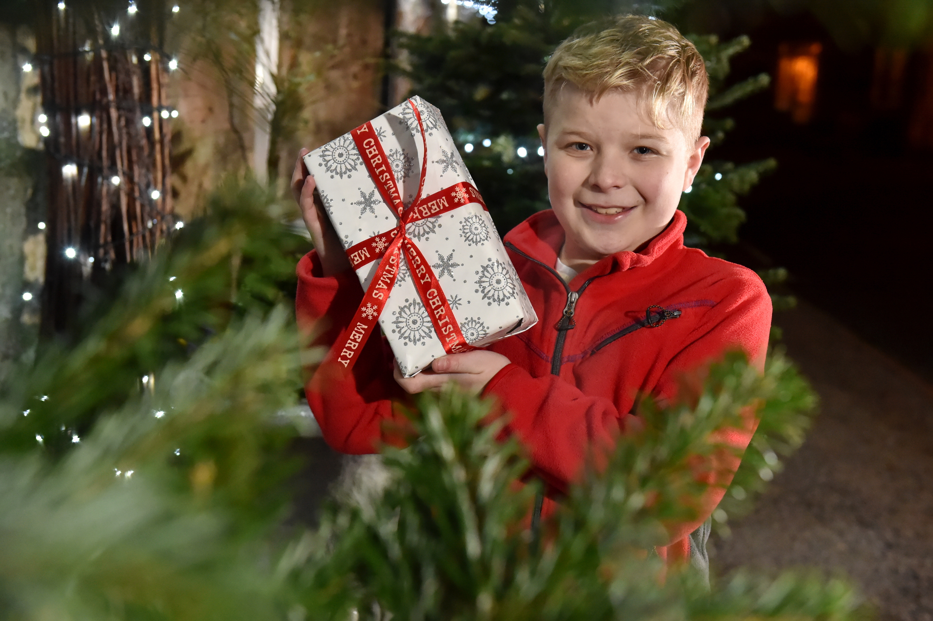Caleb Middleton, 12, is asking his friends and family to donate to Friends of ANCHOR this year instead of giving him Christmas presents. Picture by Kenny Elrick.