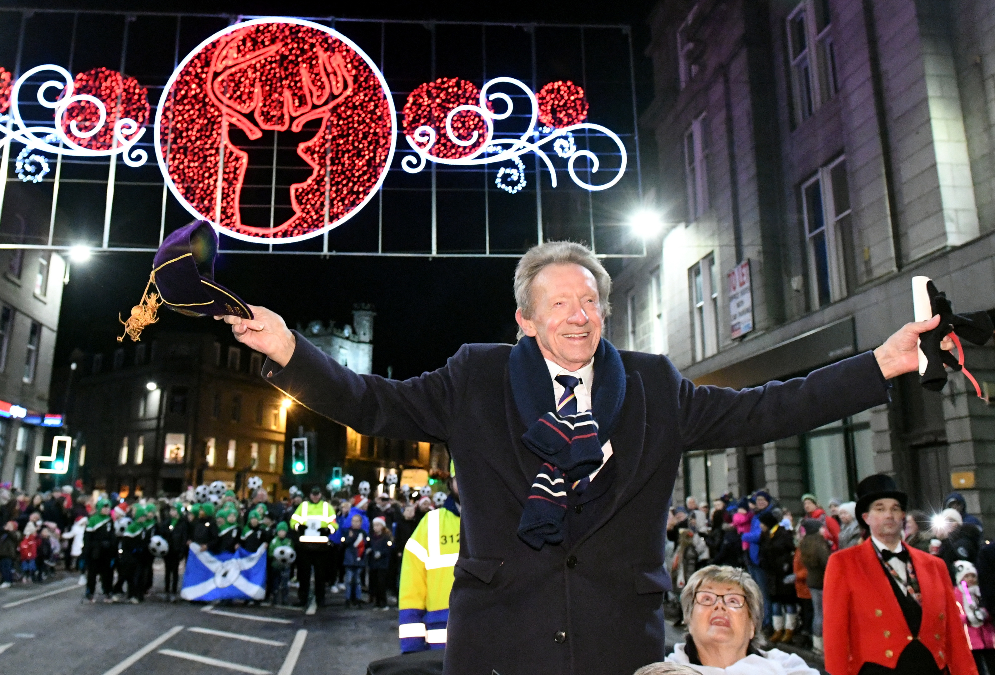 Denis Law enjoys himself in his home city.        Pic: Kami Thomson