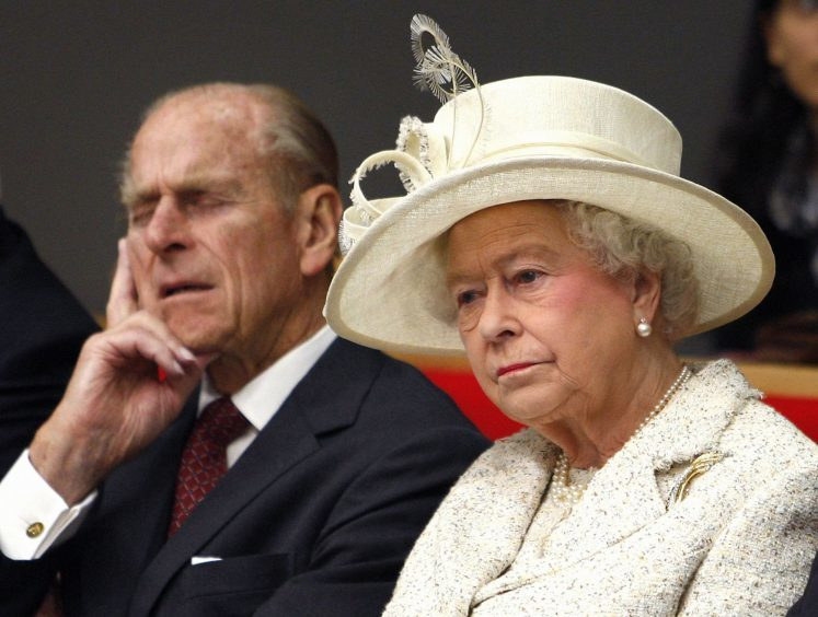 Queen Elizabeth II and the Duke of Edinburgh attend a lecture during a visit to the London School of Economics and Political Science (LSE), to open the eight-storey New Academic Building. November 2008.