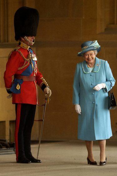 Queen Elizabeth II and the Duke of Edinburgh at Windsor Castle. April 2003.