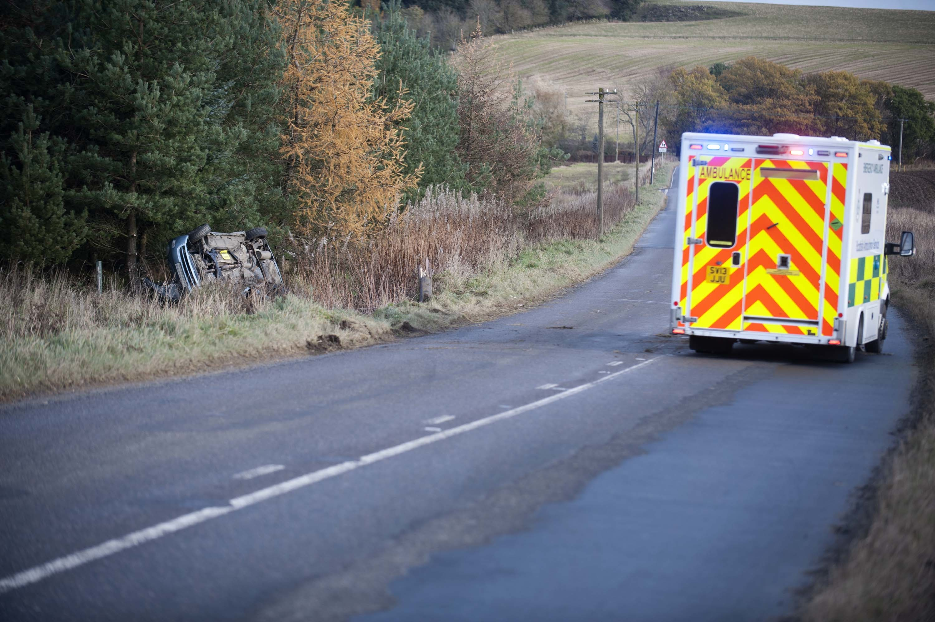 The accident on the A97  Huntly to Aberchirder Road.