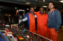 The Malaviya Seven was sold and the crew will soon be home. (from left) Vijay Kumar, Bamadev Swain and Capt Ashish Prabhakar. Picture by Colin Rennie