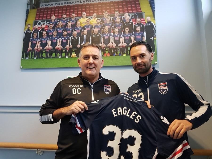 Owen Coyle signed Chris Eagles for Ross County in November.