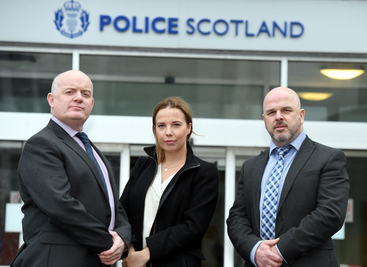 L-R DI Allen Shaw, DC Kirsty Welsh and DI Nick Thom are part of a team tasked with targeting 'cuckooing' drug dealers who use people by taking over their homes to deal. (Picture: Kami Thomson)