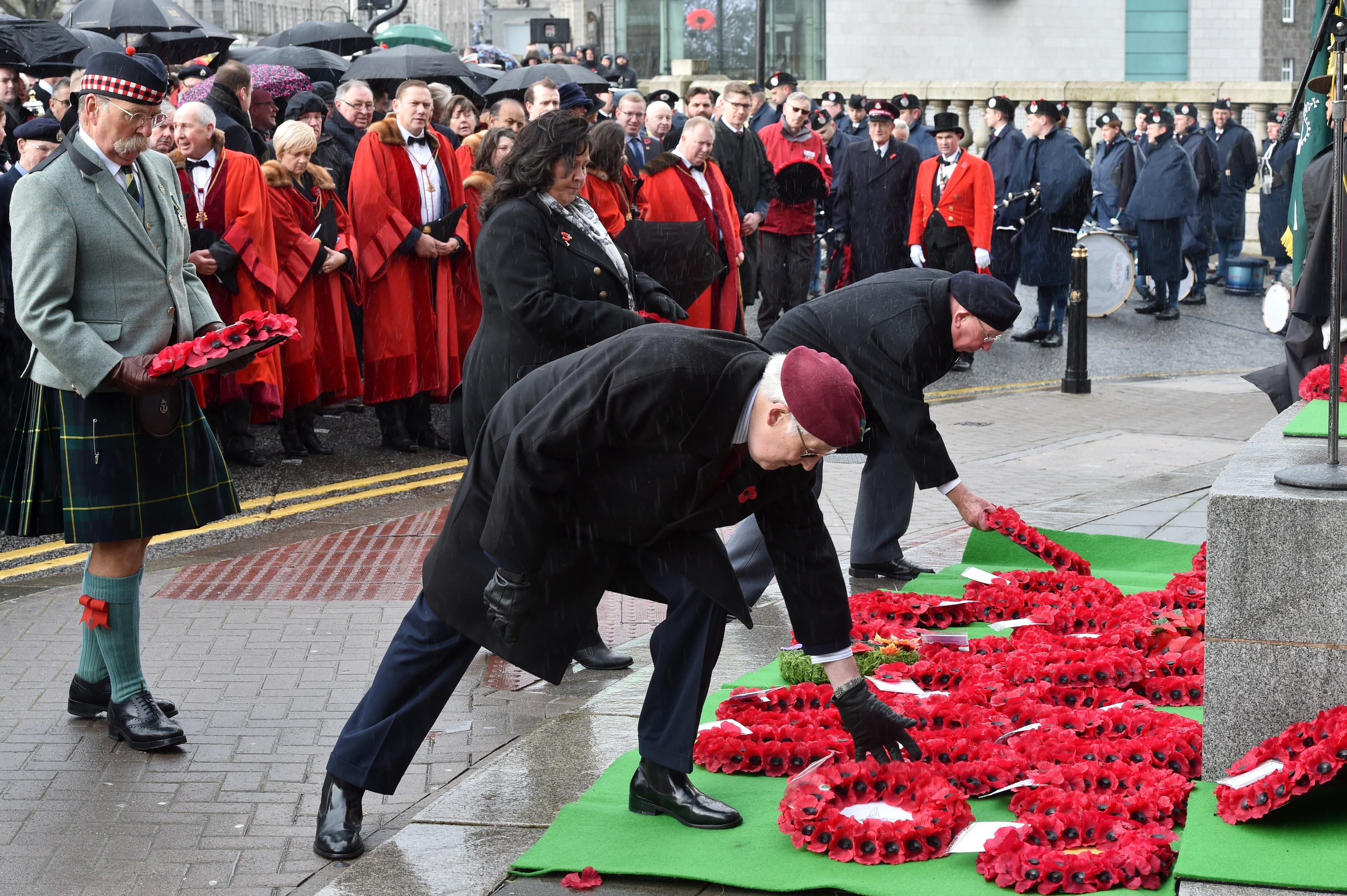 Veterans, Reserves, Cadets and Community Groups attended the service at the War Memorial. Pictures and video by Colin Rennie