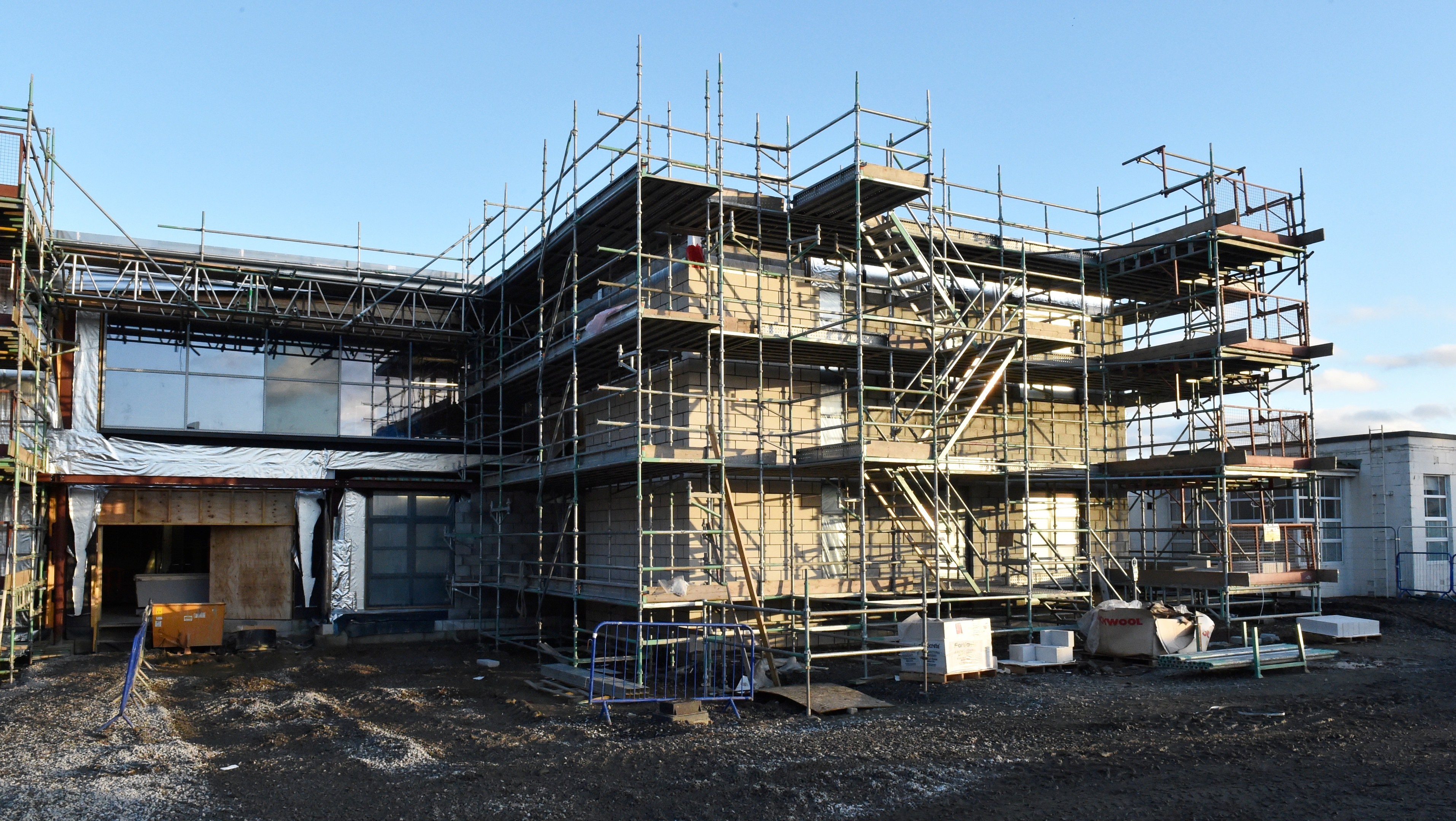 The new health centre is nearly complete. Pictures by Colin Rennie