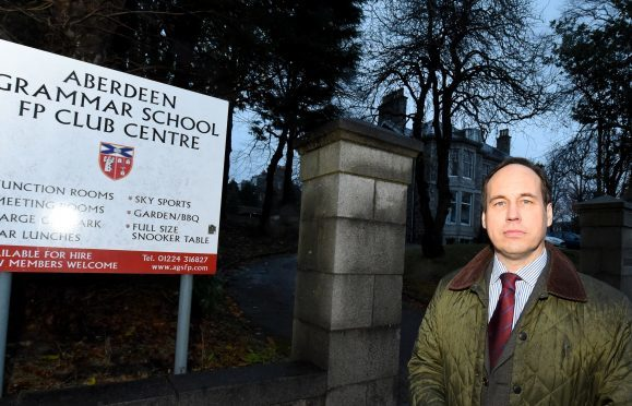 Due to close is the Aberdeen Grammar school FP club centre, Queen's Road, Aberdeen. In the picture is councillor, Martin Greig.  Picture by Jim Irvine