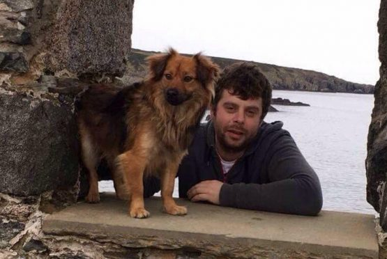 Tree surgeon Steven Smith has established a pet food bank to help furry friends like his dog  Stan