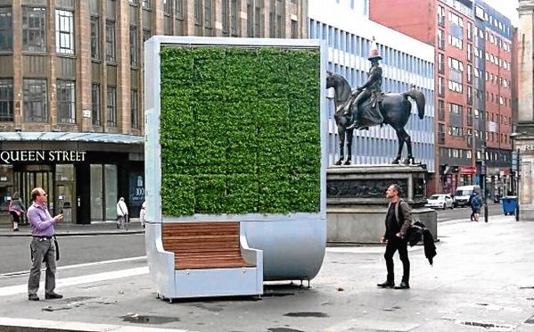 An example of a Green City Solutions piece in Glasgow.