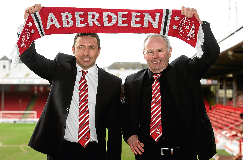 Aberdeen Chairman Stewart Milne and Derek McInnes
