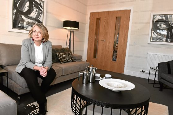 CALA have launched a new show home at Grandhome, off Whitestripes Avenue, Bridge of Don, Aberdeen. Pictured is interior designer Eileen Kesson. Picture by COLIN RENNIE  November 16, 2017.
