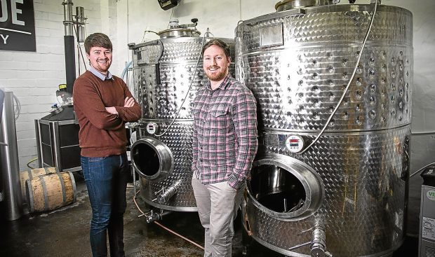 L-R, Liam Pennycook with Twin Rivers brand director, Ryan Rhodes