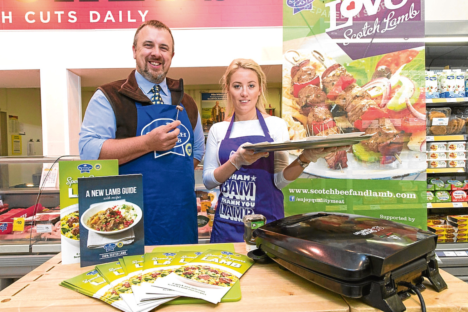 Aberdeenshire farmer John Fyall taking part in a tasting session as part of the campaign.