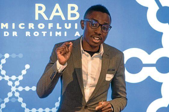 RAB-Microfluidics founder Rotimi Alabi