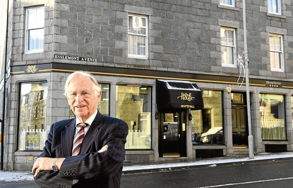 Business ;  Charles Skene owner of Skene House, pictured at his Whitehall Place, opetration.     .....see story Rebecca Buchan.       Picture by Kami Thomson    11-12-17