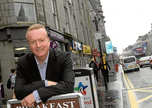 CEO of Aberdeen Inspired Adrian Watson pictured on Union Street