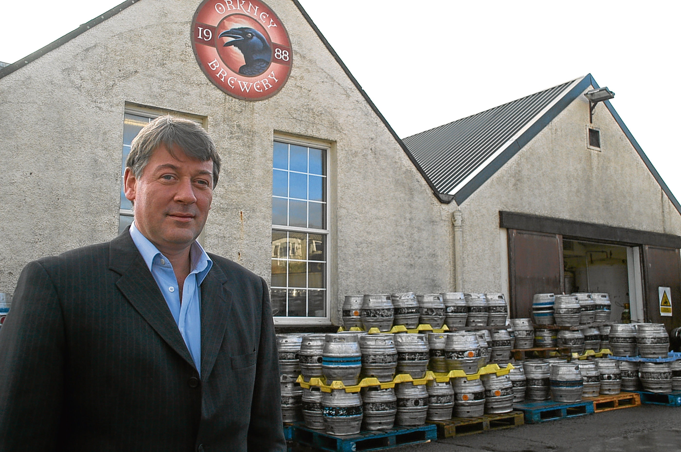 Norman Sinclair of Orkney Brewery.  Photo Kenny Pirie