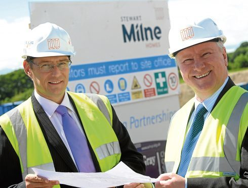 (FROM LEFT) John Low, Managing Director of Stewart Milne Homes North Scotland with Alex Neil, Minister for Housing and Communities
