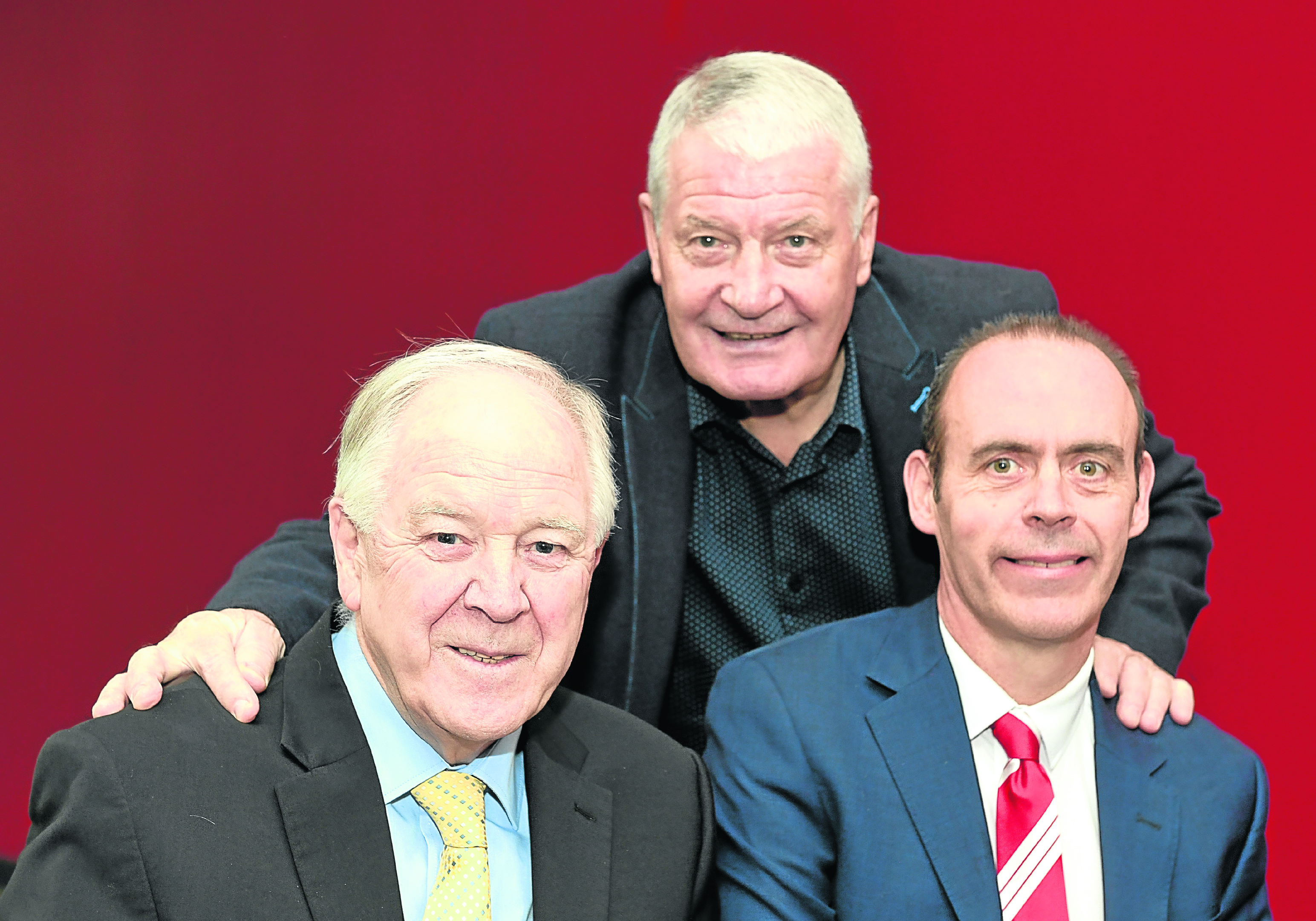 Pictured - L-R Craig Brown, Archie Knox and Graham Findlay NESS CEO.    Picture by Kami Thomson