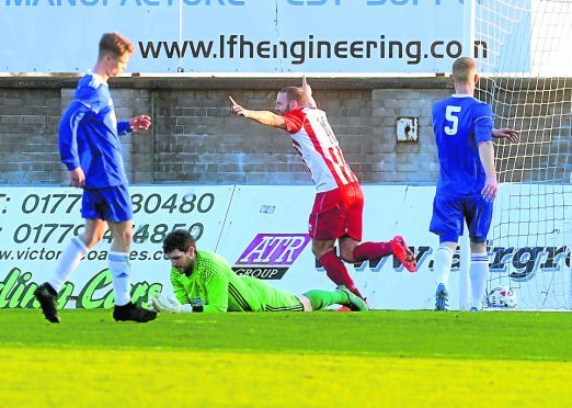Formartine's Garry Wood in action