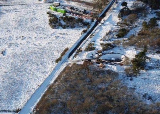 The Forties pipeline work