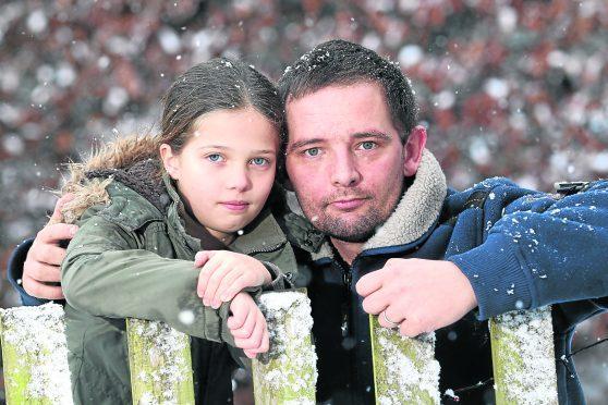 Glen Mason and his daughter Skye (9)