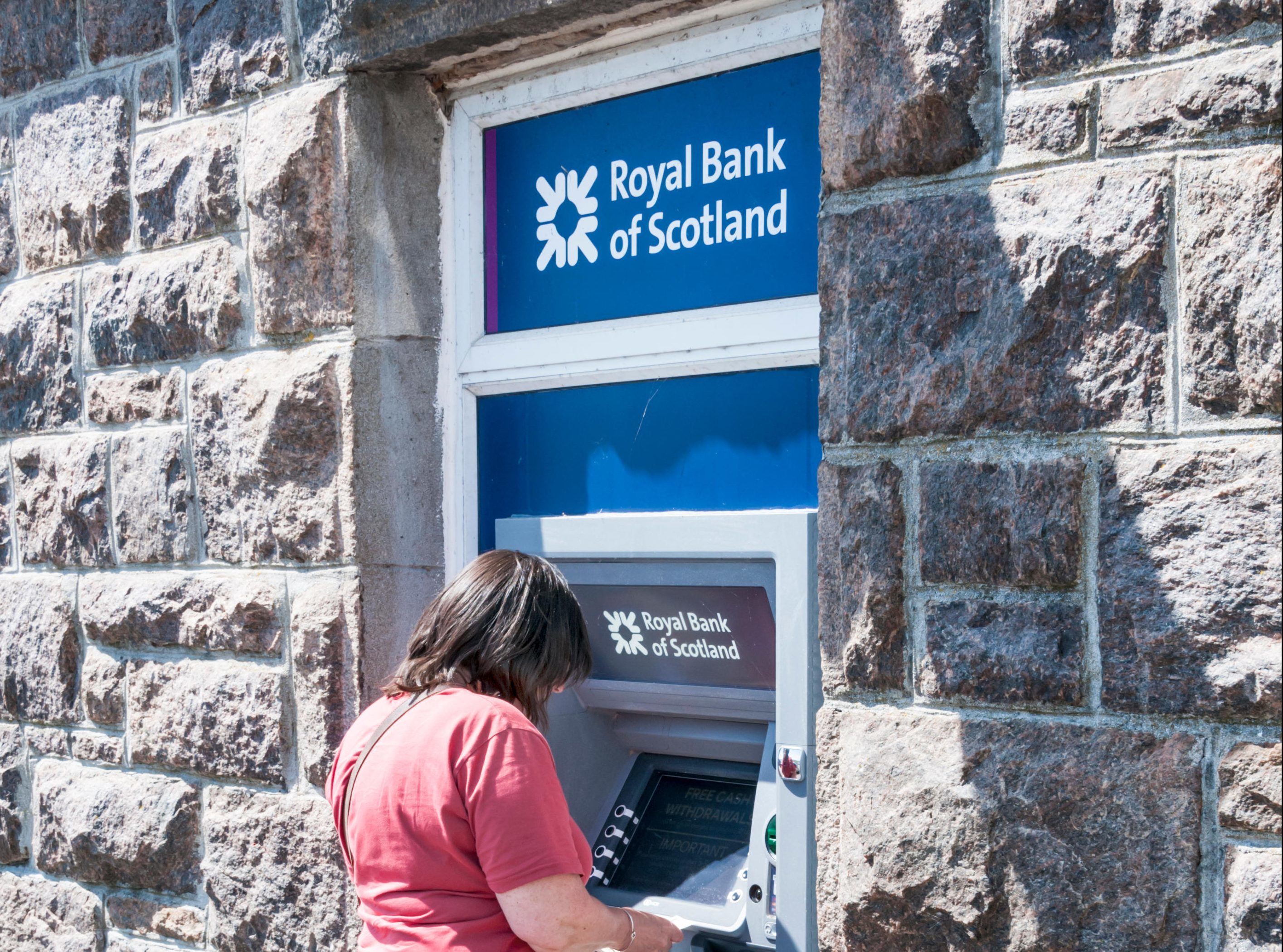 An RBS cash machine