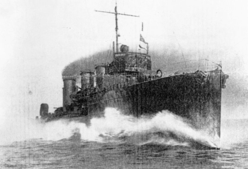 HMS Opal. Picture courtesy of Orkney Library and Archive.