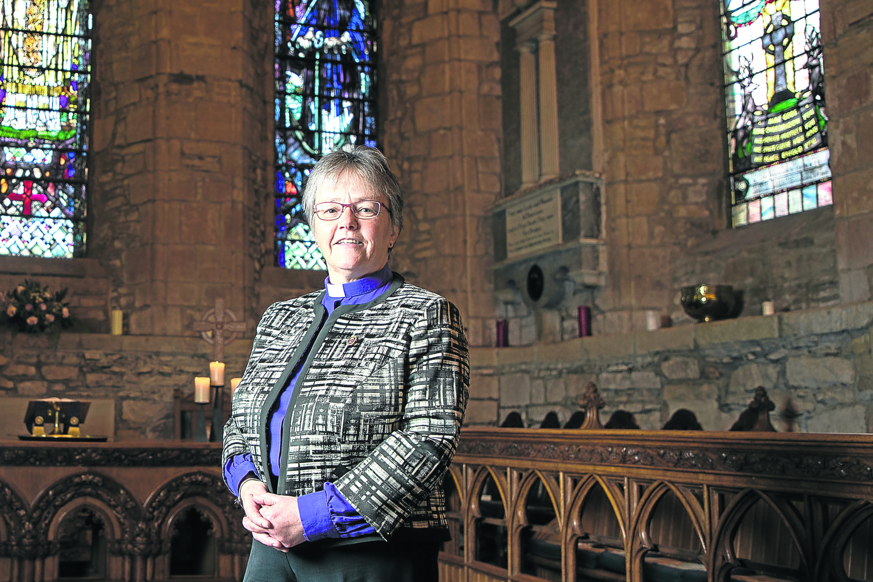 Rev Susan Brown, minister of Dornoch Cathedral