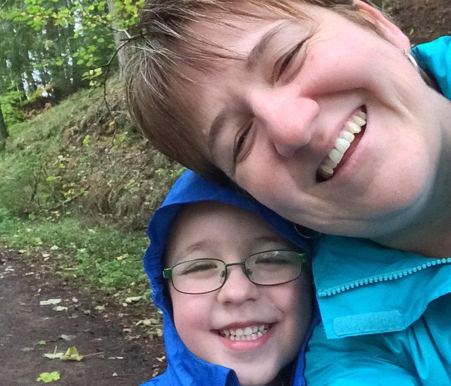 Denise Middler with son, Owen.