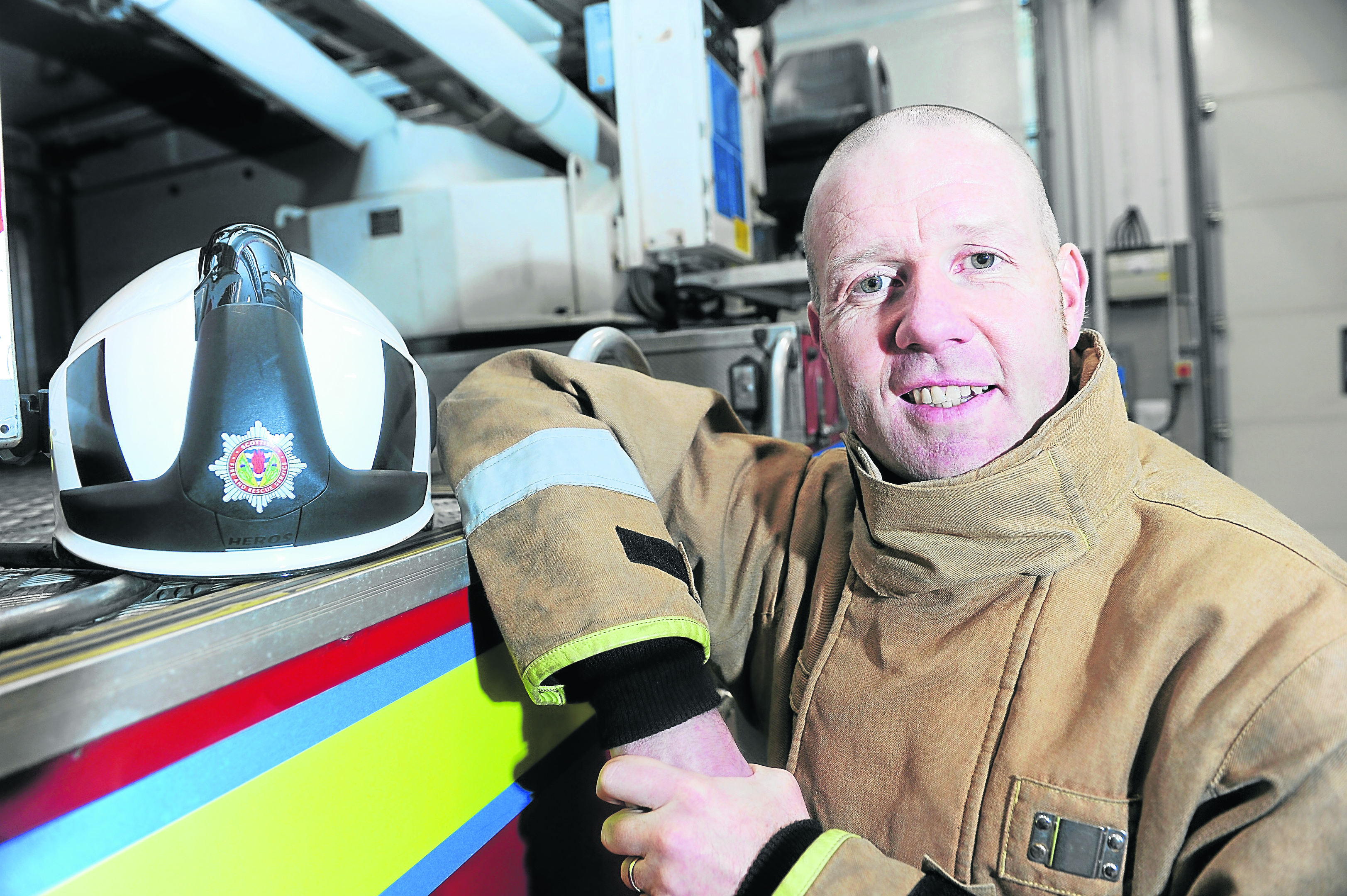 Deputy Assistant Chief Officer (DACO) David Farries, head of service delivery for North of Scotland photographed in Inverness Fire Station. Picture by Sandy McCook.