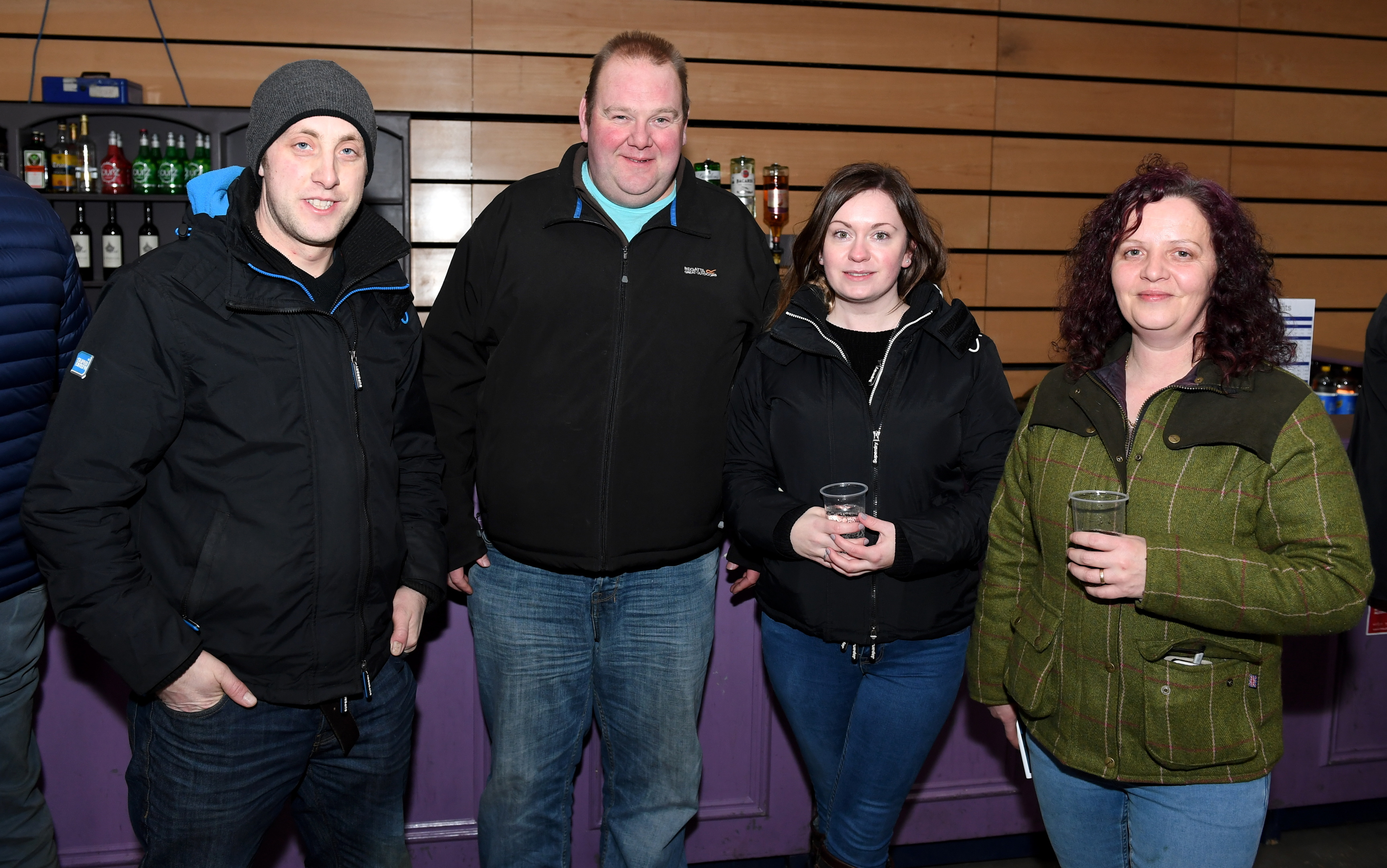Pictured - Jamie Coghill, Kevin MacKay, Zoe Stewart, Wilma Stewart.      Picture by Kami Thomson