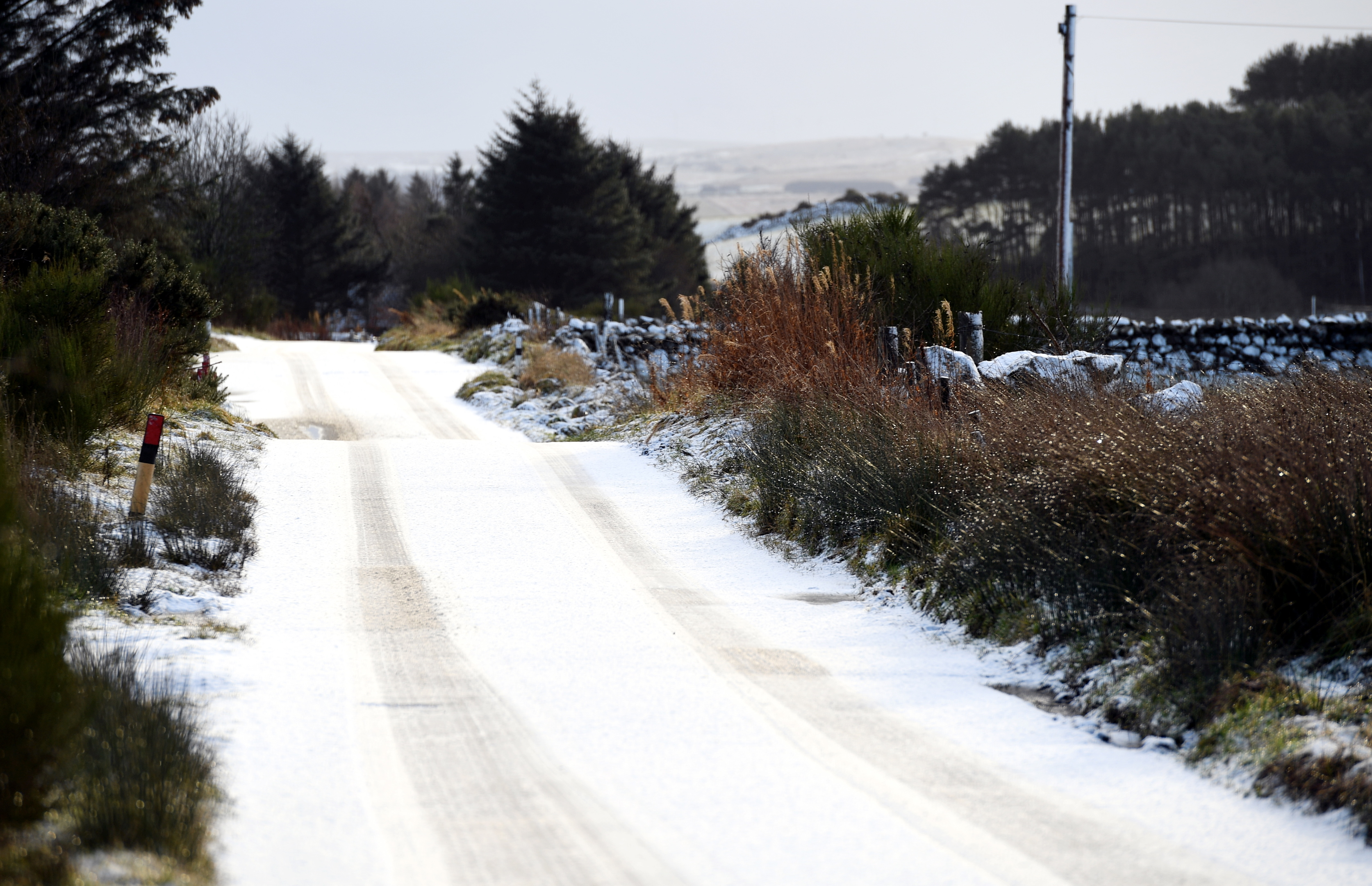 The road to Easter Ord from Westhill.    Picture by Kami Thomson