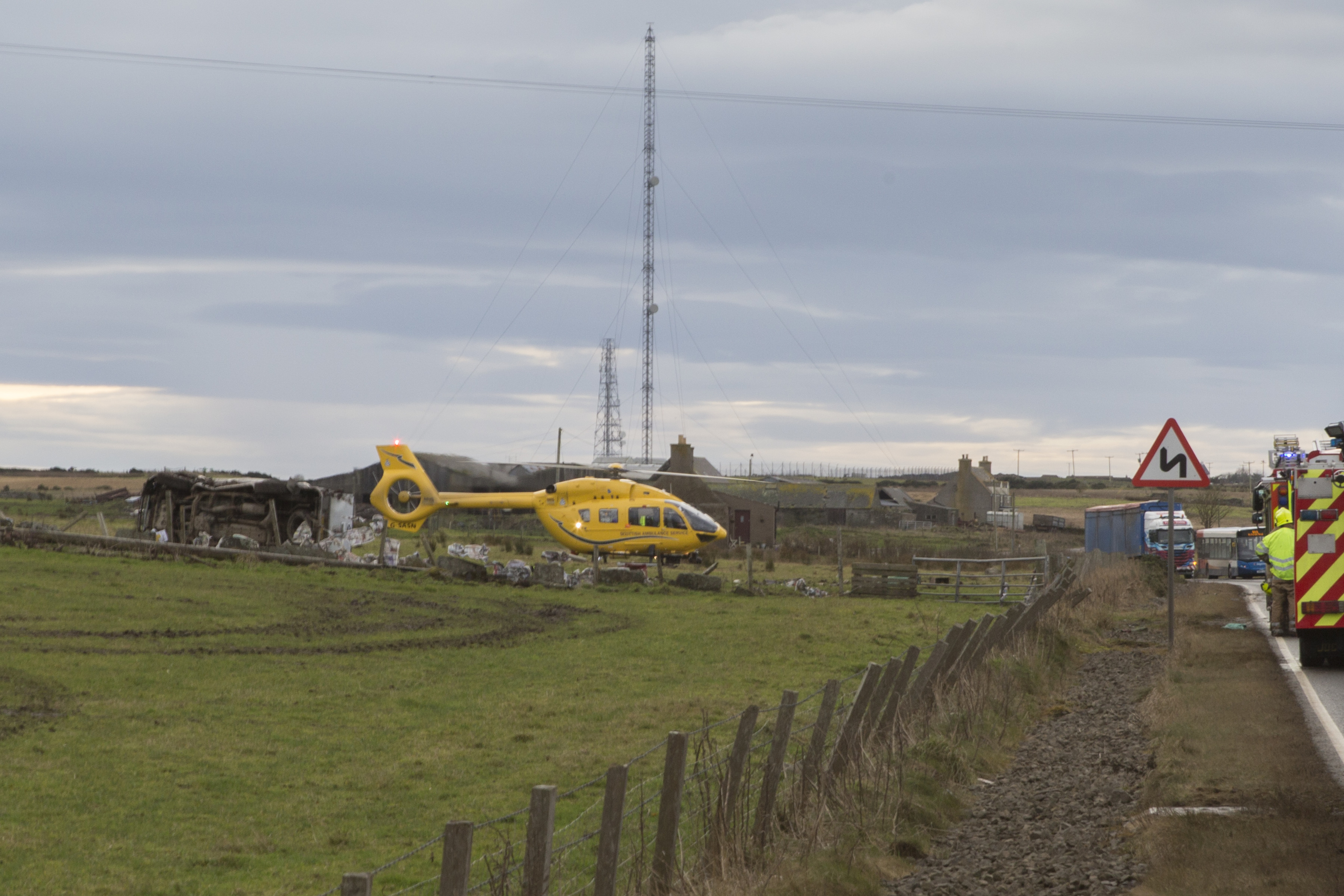 The scene three miles south of Wick