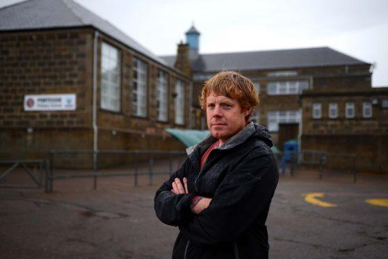 Councillor Tim Eagle at Portessie Primary School
