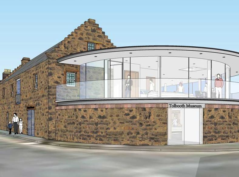 An artist's impression of the Tolbooth's extension.