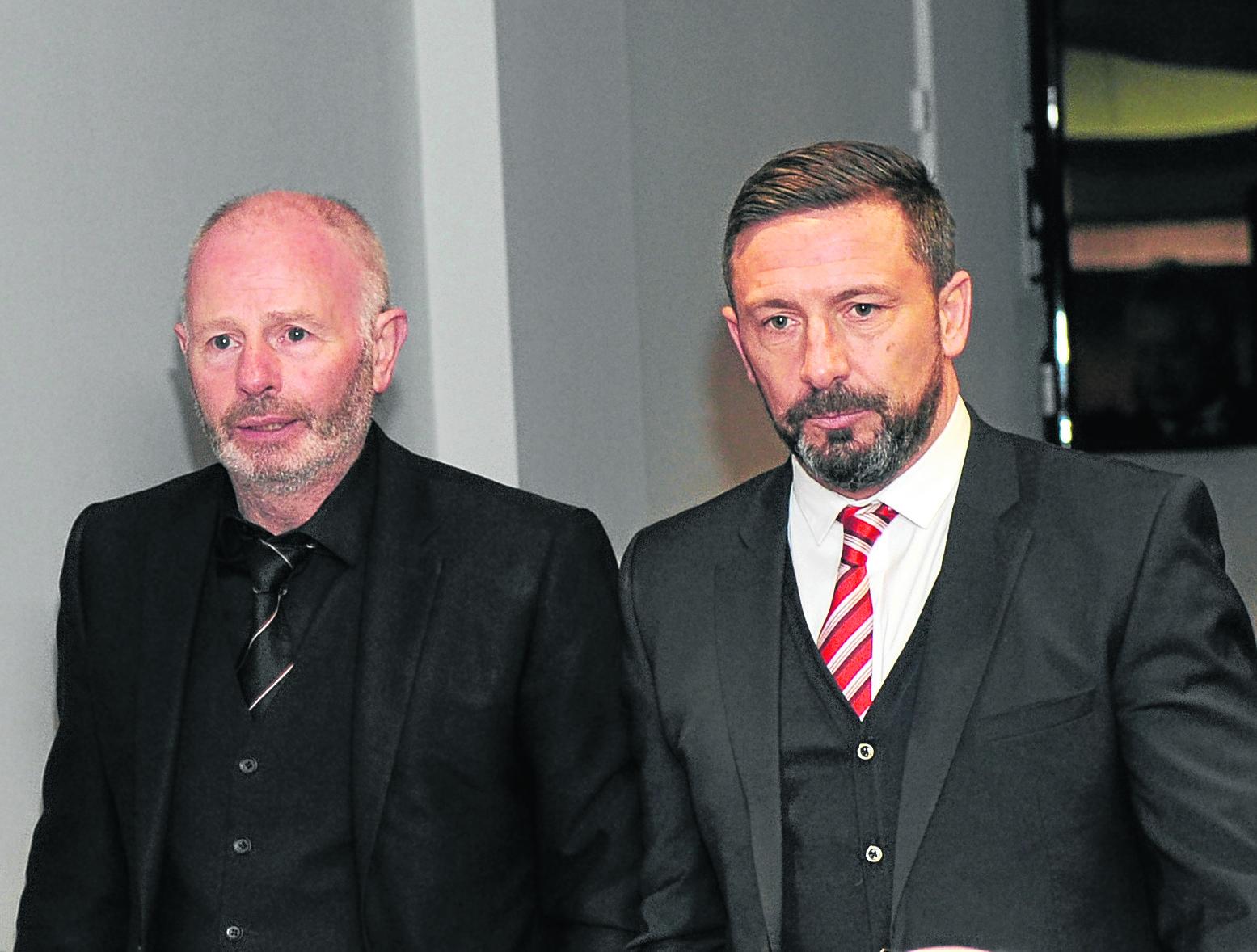 Stewart Milne and Derek McInnes.