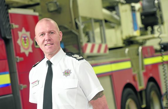 Deputy Assistant Chief Officer (DACO) David Farries, head of service delivery for North of Scotland photographed in Inverness Fire Station. Picture by Sandy McCook