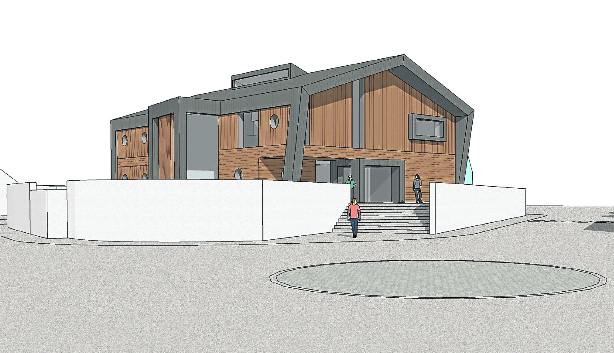 Artist impression of the UHI plans for a campus building in Mallaig