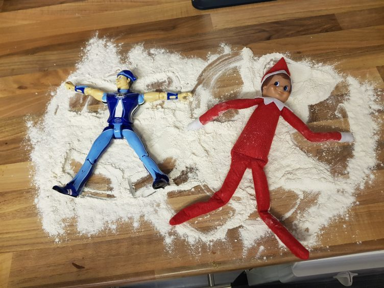 Snowflake the elf lives with Blair King in Pitcaple.