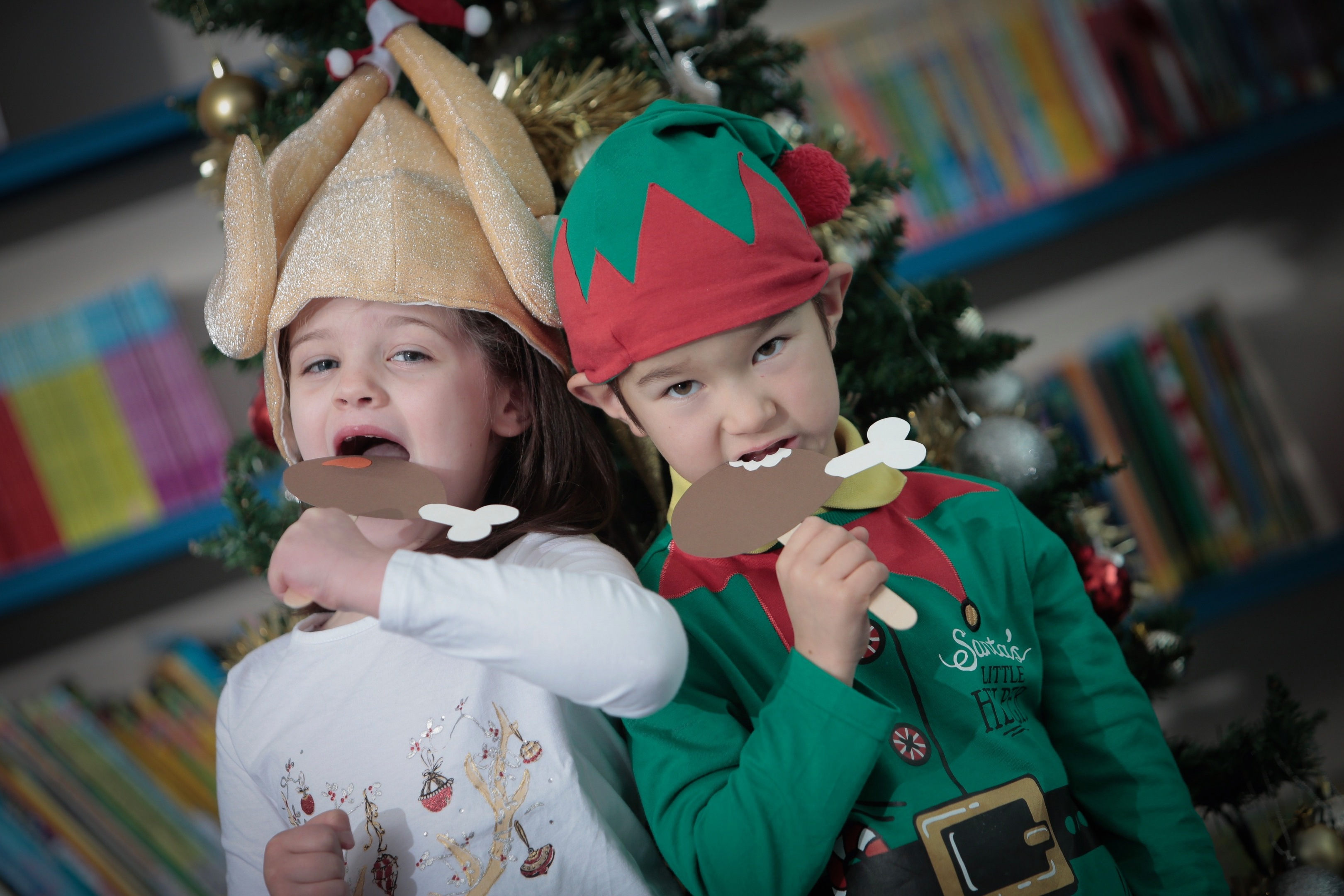 Midmar School pupils Ailsa Lyon, seven, and Aiden Ligertwood, six, show Christmas food safety is child's play.