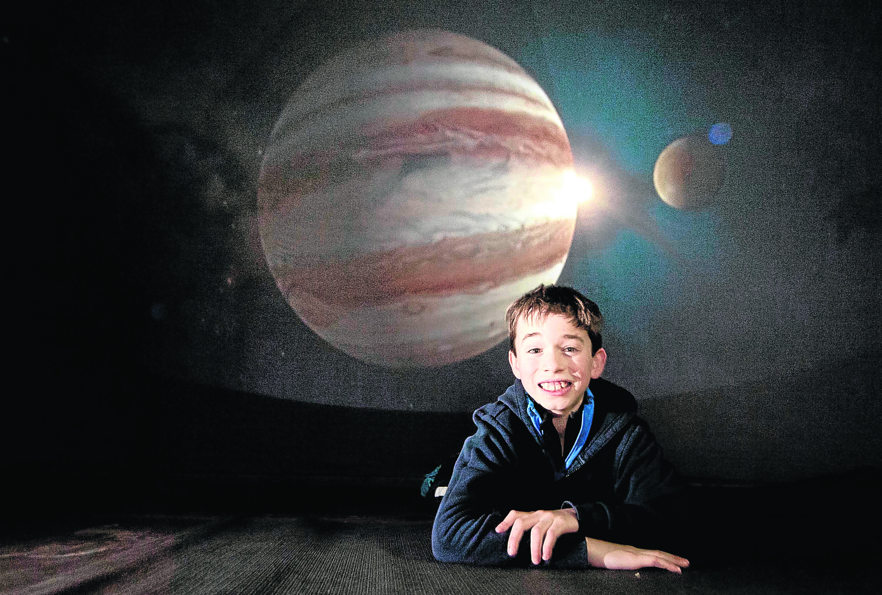 Thomas Bogie learned about the night sky at the Tomintoul and Glenlivet Landscape Partnership planetarium event.