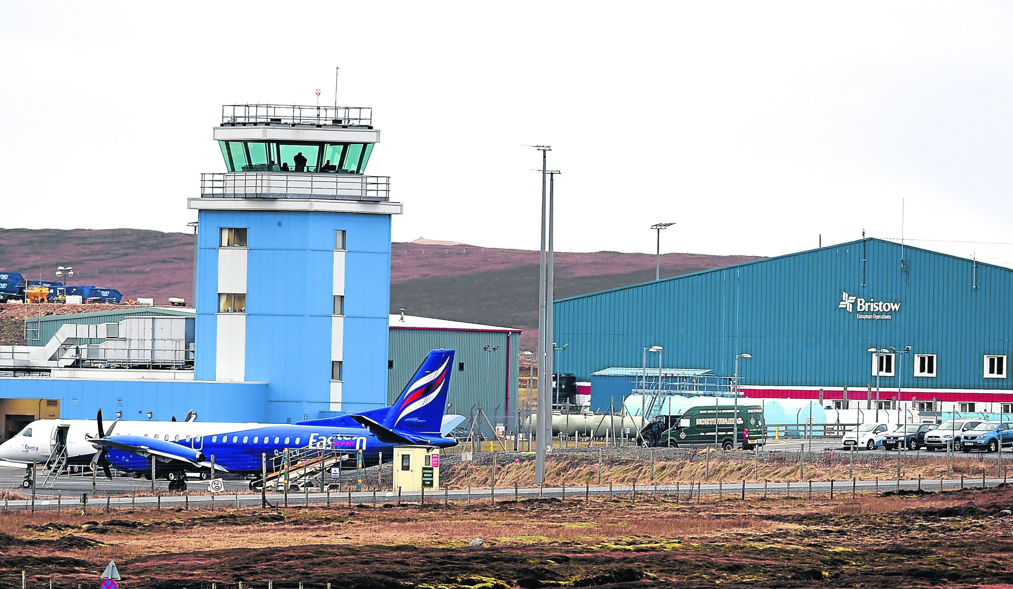 Locator of Scatsta Airport, Shetland.