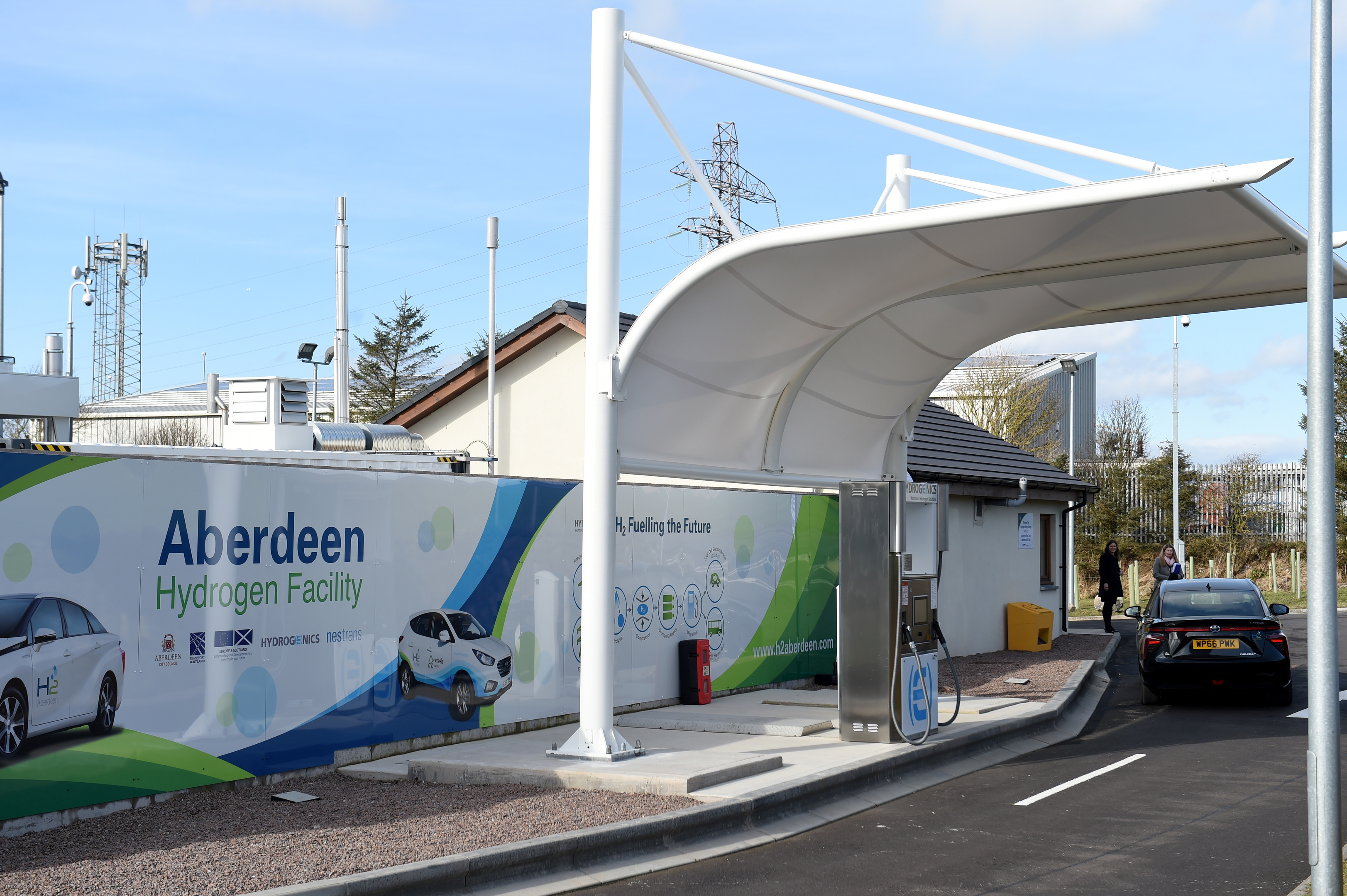 Aberdeen's second hydrogen refuelling station at Langdykes Road, Cove.