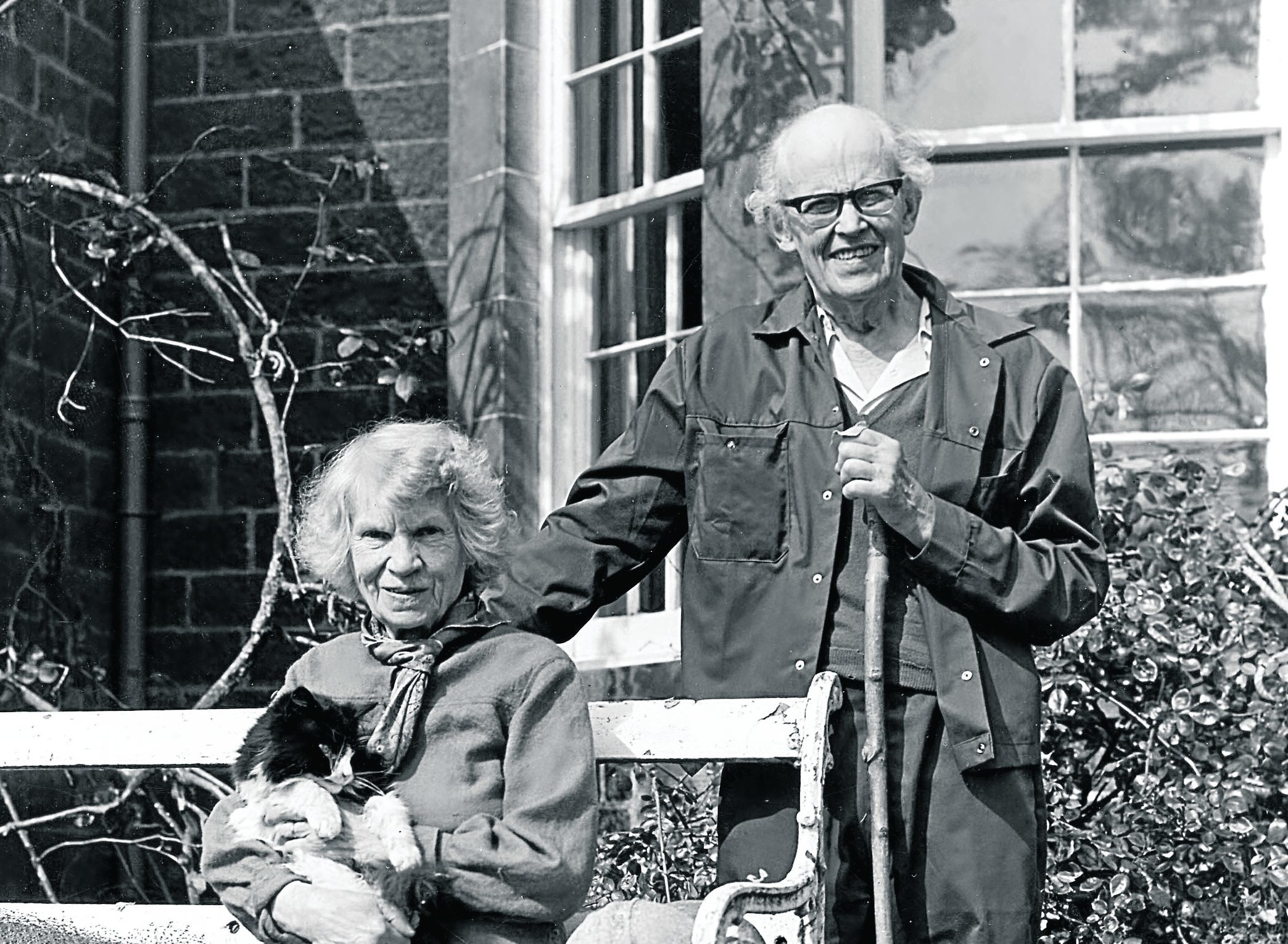 R - L John Lorne Campbell and his wife Margaret Fay Shaw pictured in 1989.