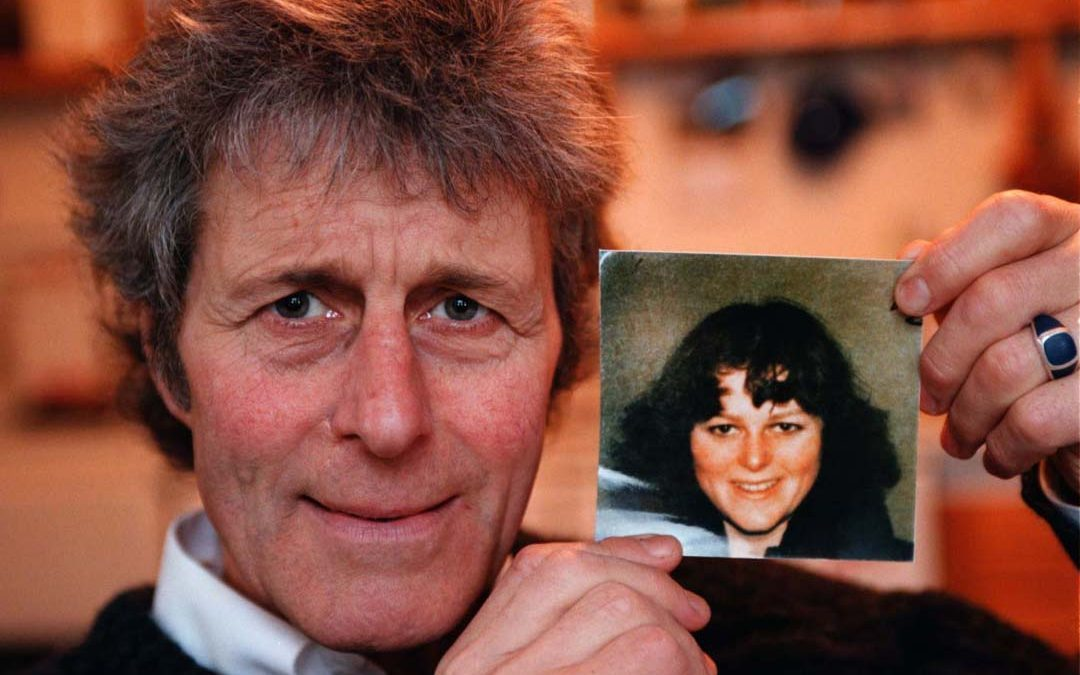Rev. Kenneth MacDonald with the very last picture (from her bus-pass) of his missing daughter, Alison.