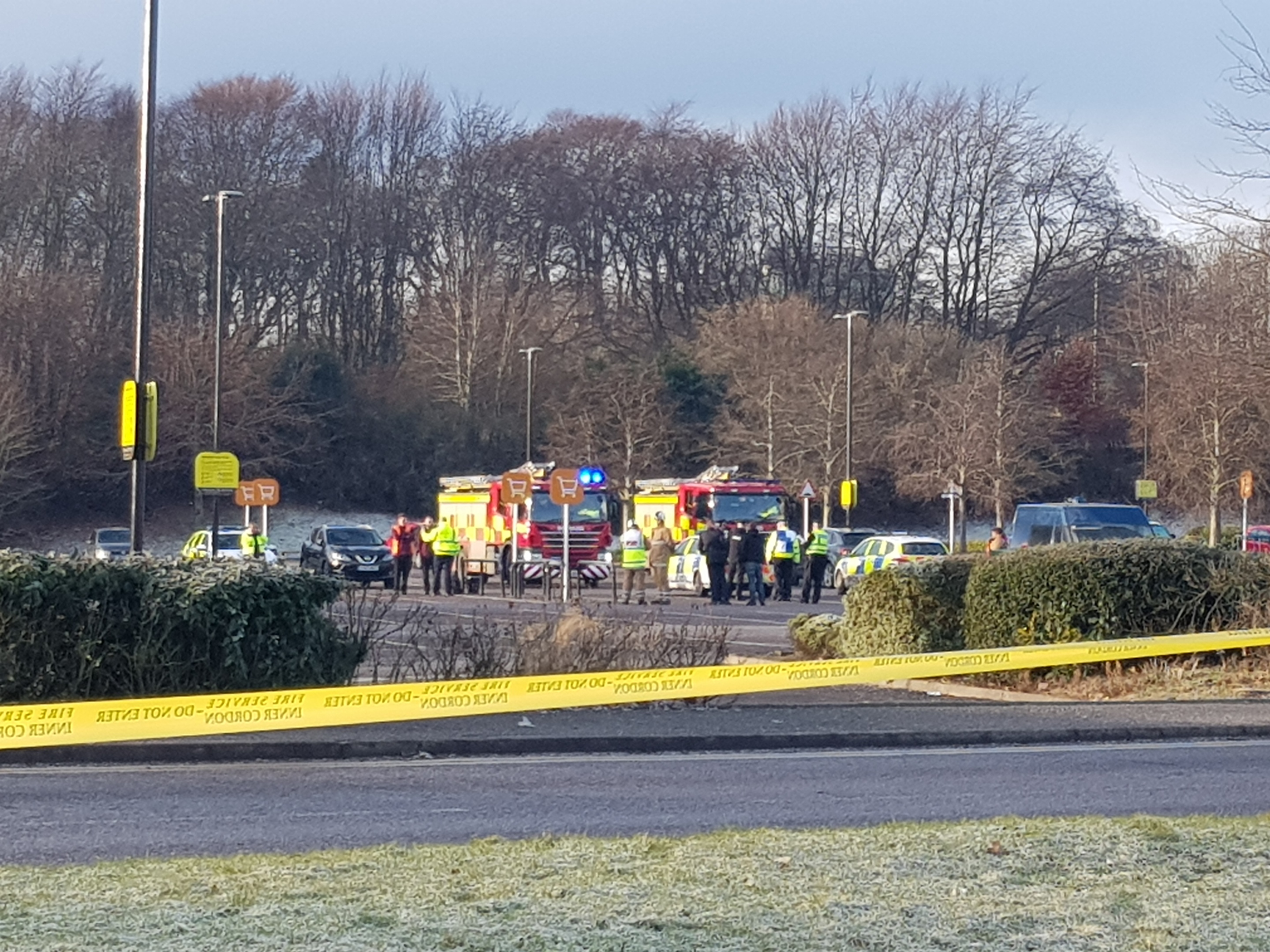Emergency services were called to Sainsbury's at Garthdee after a shop worker found a suspicious package.